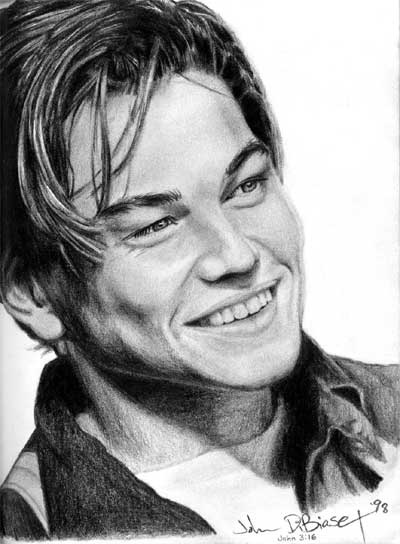 leonardo dicaprio titanic drawing. Leonardo DiCaprio drawing.