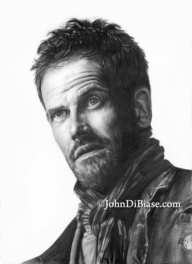 Pencil Drawing Of Jonny Lee Miller As Sherlock Holmes In TVs