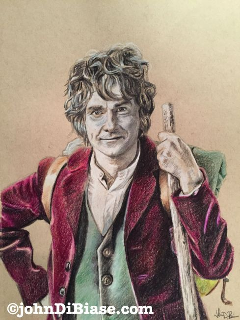 bilbo colored pencil