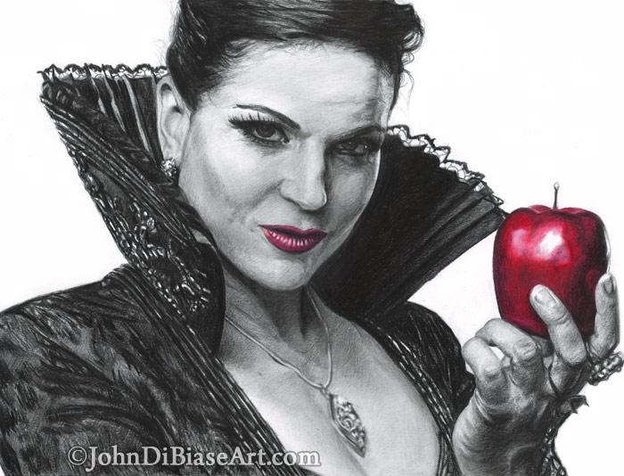 Pencil Colored Pencil The Evil Queen From Once Upon A Time