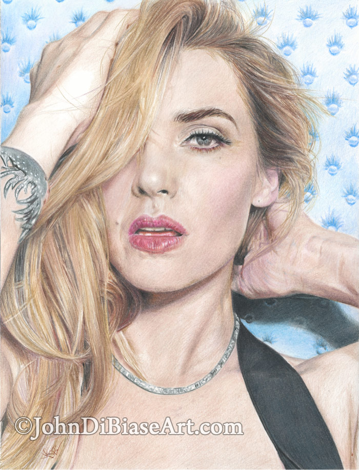 Colored Pencil Drawing Of Kate Winslet Johndibiase