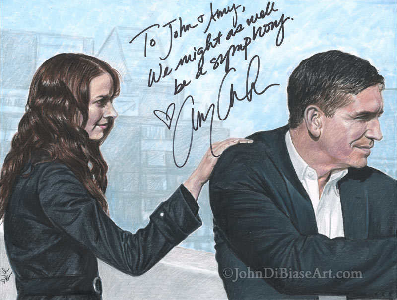 "Autographed Amy Acker ""Person of Interest"" Drawing – JohnDiBiase com"